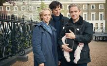 На съемках четвертого сезона сериала «Шерлок». Фото: Robert Viglasky/Hartswood Films/PBS Masterpiece