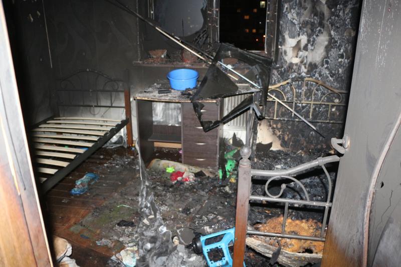 Пожар вквартире многодетной семьи вОдессе произошел из-за детских шалостей
