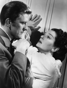 Кирк Дуглас с актрисой Розалинд Рассел. 1947 год