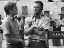 Кирк Дуглас и его сын Майкл. 1965 год