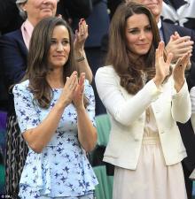 Герцогиня Кембриджская Кейт с сестрой Пиппой Миддлтон. Фото: viralgasp.com