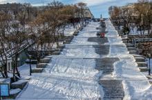 Потемкинская лестница, январь 2016 г. Фото Олега Владимирского