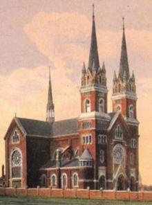 Собор святого Климента на старинной открытке