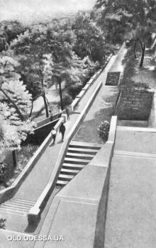 В Пионерском (теперь - Греческом) парке. Фото из буклета «Одесса. Приморский бульвар». 1965 г.