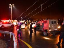 На месте происшествия. 27 января 2017 года Flash90. Фото: М.Мизрахи. С сайта newsru.co.il