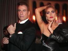 Lady GaGa и Джон Траволта на вечеринке Грэмми. Getty Images. Фото: К.Полк