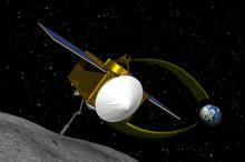 OSIRIS-REx у астероида (в представлении художника). Изображение: NASA