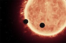 Экзопланеты на орбите TRAPPIST-1. Изображение: NASA / ESA / STSCI