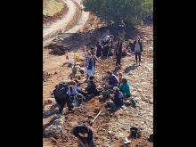 Волонтеры на месте раскопок