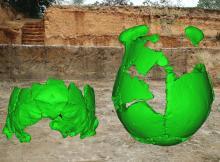 Виртуальная реконструкция двух найденных черепов. Фото Xiujie Wu