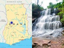 Водопады Кинтампо. Гана. iStock/PeterHermesFurian и Wikipedia/Sean Moran