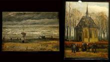 Обнаруженные картины в музее Винсента Ван Гога в Амстердаме, 21 марта 2017 года. Фото: Michael Kooren/Reuters