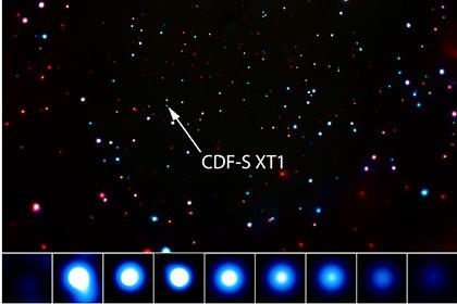 Загадочная мощная вспышка рентгеновских лучей обнаружена телескопом Чандра