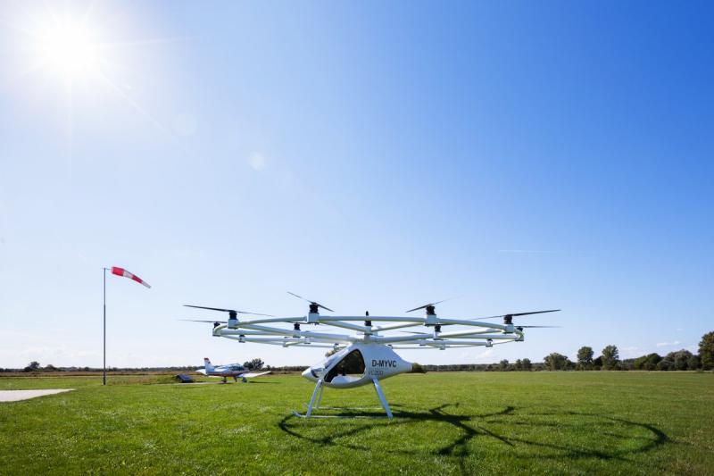 Лучшие стартапы: вГермании представили воздушное такси Volocopter