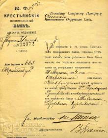 Крестьянский поземельный банк, одесское отделение