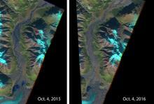 Изменения системы речных потоков. Фото: European Space Agency / Flickr