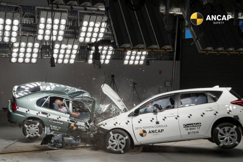 Австралийцы сравнили безопасность Тойота Corolla 1998 и2015 годов