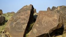 Тысячелетние наскальные рисунки, ранее обнаруженные в горах Иньшань. Фото: Синьхуа