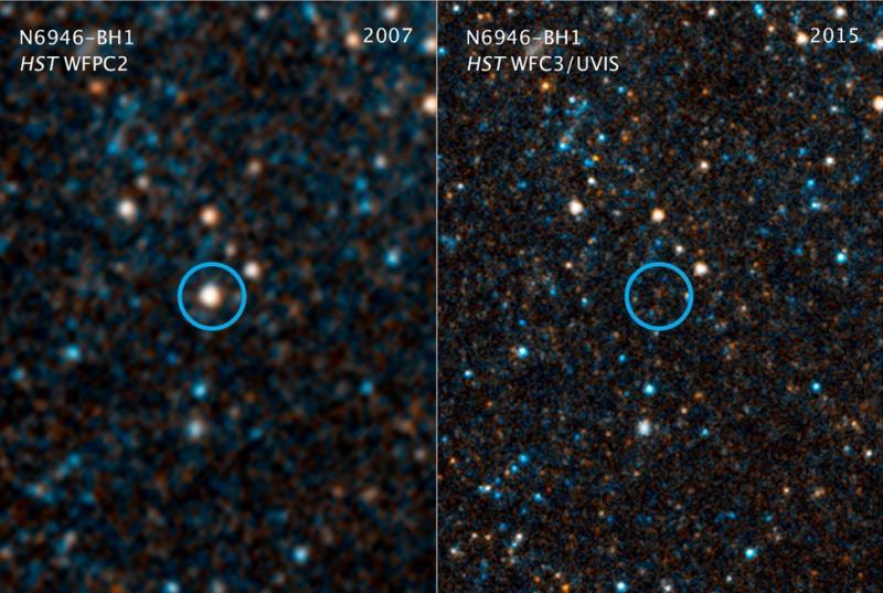 Пропала звезда, закоторой астрономы наблюдали пару лет