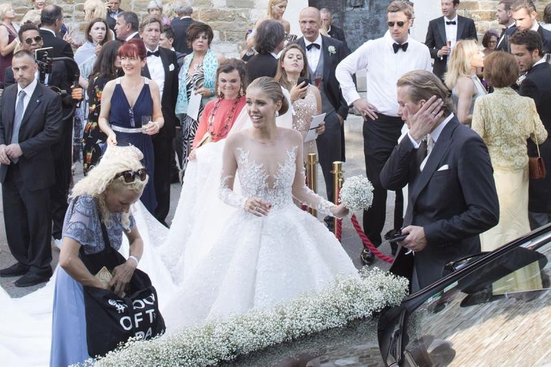Наследница Swarovski надела насвадьбу платье, стоимостью $900 тысяч