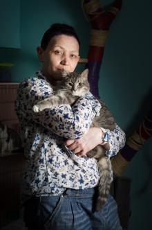 Волонтер Елена Помазенко-Монастырская и Гаечка