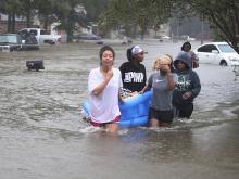 После урагана «Харви». 28 августа 2017 года.  Getty Images. Фото: Дж.Ридл