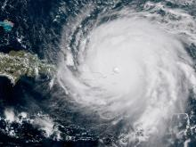 Ураган Ирма в Атлантическом океане, 6 сентября 2017 года.  NASA/NOAA GOES Project/Getty Images
