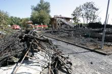 На месте трагедии. 16 сентября 2017 г. Фото Вячеслава Теянкова