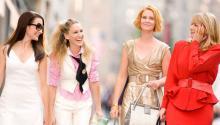 Кристин Дэвис, Сара Джессика Паркер, Синтия Никсон и Ким Кэттролл в фильме «Секс в большом городе» (2008)