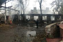После пожара на территории ЗАО «Одессакондитер». Фото: Главное управление полиции в Одесской области