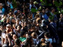 У тюрьмы в Венесуэле. 29 марта 2018 года. Фото:  REUTERS/Carlos Garcia Rawlins
