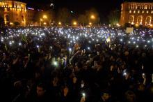Митинг протеста в Ереване. 22 апреля 2018 г. Фото: Gevorg Ghazaryan / Xinhua / Sipa USA / Vida Press