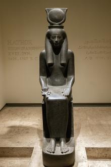 Статуя богини Хатхор.