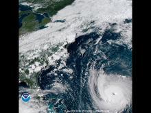 Ураган Флоренс, 11 сентября 2018 года.  NOAA/Getty Images