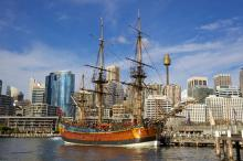Австралийская реконструкция HMS Endeavour Джеймса Кука Фото: Shutterstock