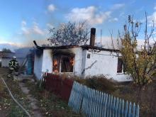 Пожар в Степовом. Фото: Главное управление ГСЧС в Одесской области