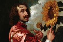 Фрагмент картины Антониса ван Дейка «Автопортрет с подсолнухом»
