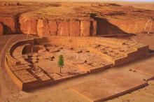 Современная реконструкция того, как мог выглядеть древний город Пуэбло-Бонито. Изображение: National Park Service