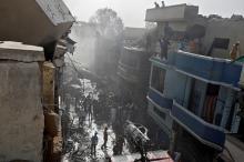 Фото с места происшествия. Фото: Akhtar Soomro / Reuters