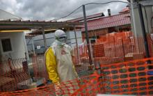 Фото: медицинский центр во время эпидемии Эболы в 2015 году (nytimes.com)
