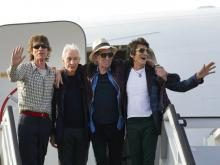 Rolling Stones в 2016 году. Чарли Уоттс второй слева. AP Photo/Ramon Espinosa File