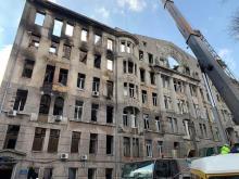 Дом Асвадурова после пожара