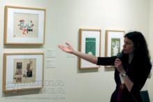 Организатор выставки Елена Мартынюк.