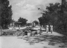 Одеса Парк на Куяльницькому лимані. Фото Б. Левіта. Поштова картка. 1938 р.