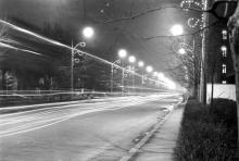 Проспект Шевченко ночью, фото Людмилы Ковалевой, 3 мая 1969 г.