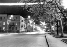Улица Пушкинская ночью, фото Людмилы Ковалевой, 3 мая 1969 г.