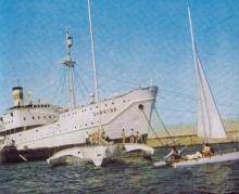 Учебное судно «Экватор» в Отраде