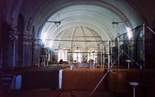 Спортзал факультета физической культуры Одесского пединститута в здании Главной синагоги, 1996 г.