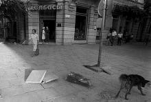 Дерибасовская угол Ленина (Ришельевская), фотограф Александр Стринадко, конец 1980-х годов