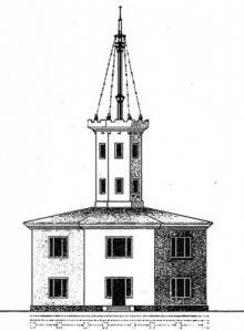 «Одесская башня», первый маяк на Карантинном молу, рисунок